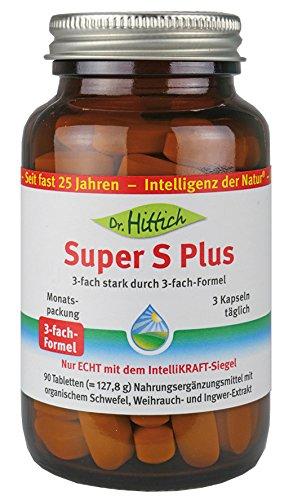 Super S Plus - 90 MSM Tabletten mit Weihrauch, Ingwer und Schwefel für Ihre Gelenke - Ideal auch für eine Stoffwechselkur als Nahrungsergänzung - Von Dr. Hittich