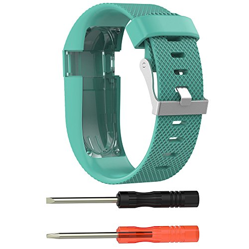 Yallylunn Large Replacement Silicone Band Strap Wristband Bracelet Unisex Wasserfest Gummi Uhrenarmband WiderstandsfäHigkeit for Fitbit Charge Hr