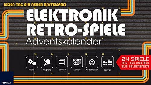 Preisvergleich Produktbild FRANZIS Elektronik-Retro-Spiele-Adventskalender 2017 | 24 Spiele der 70er und 80er zum Selberbauen | Jeden Tag ein neuer Bastelspaß!