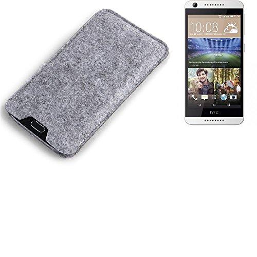 K-S-Trade Filz Schutz Hülle für HTC Desire 620G Dual SIM Schutzhülle Filztasche Filz Tasche Case Sleeve Handyhülle Filzhülle grau