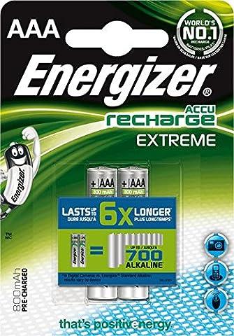 Energizer Akkus Extreme/ 635000, 800 mAh Micro AAA HR03 Inh.