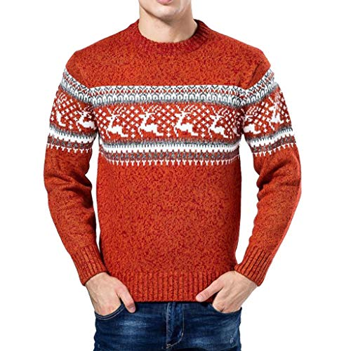 friendGG❤️❤️ Herren Pullover Strickjacke Mantel Cardigan Strickwaren Mantel Jacke Sweatshirt Vintage Strickpullover Herren Norweger Pullover Winterpullover Strickmantel Outwear
