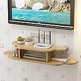 Wand-TV-Schrank/Regal TV-Konsole TV-Ständer Router Set Top Box Multimedia Ablageboden Hintergrundwand Dekoratives Regal (Farbe : A, größe : 90CM)