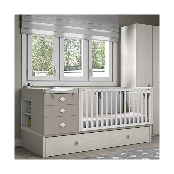 Furniture ROS Baby Cot - 98.6 x 203.8 x 104.6 cm Meubles ROS  1