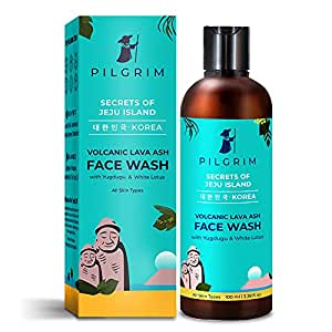 Pilgrim Mild Face Wash Cleanser for Deep Pore Cleansing, Oil Control, Pollution Defence,Dry, Oily and Acne Skin, Korean Beauty Secrets
