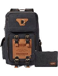 b3ead9b85d40d Herren Vintage Rucksäcke Retro Wanderrucksack Hiking Backpack Kaukko 3 Way  Multifunktionsrucksack Schulrucksack für Outdoor…
