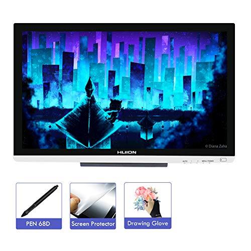 HUION KAMVAS GT-220 V2 21,5 Zoll Voll-HD IPS Stift Grafiktablett-Display mit 8192 Stufen Stiftdruck (GT-220 V2 Silber)