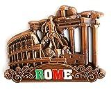 Imán de metal para nevera, frigorífico o cocina de diseño único. Decoración para el hogar, regalo de vacaciones de París, Venecia, Roma, Praga, Barcelona, Ámsterdam, Nueva York, Dubái, Tailandia, etc., Rome