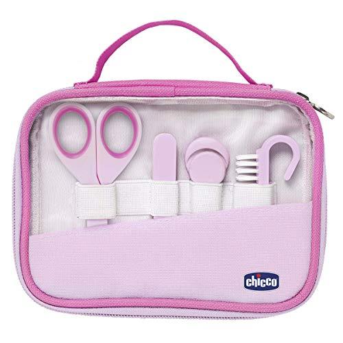 Chicco 00010019100000 igiene e benessere set manicure bambina, rosa