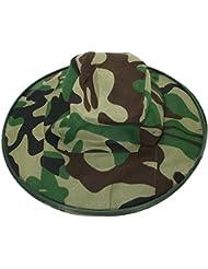Vococal - Casquillo del Sombrero del Cubo Máscara con Cara Cubierta de Malla de Red de Protección Anti Mosquito Abeja Insecto Insecto Mosca para Apicultura Apicultor,Camuflaje