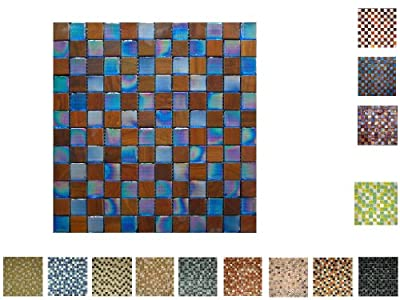 1 Netz Glas Holz Mosaik Bluewood von Mosaikdiscount24 GmbH bei TapetenShop