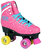 Sell-tex Kinder Rollschuhe 34 35 36 37 38 Neu Discoroller Rosa Rollerskates Inliner ABEC-5 (40)