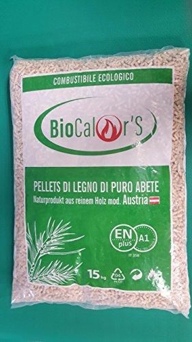 Pellet 60 sacchi da 15kg puro legno abete certificato en plus - a1 consegna a domicilio