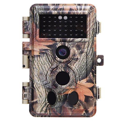 Zopu Trail Kamera 16MP 1080P No Glow Night Vision, Spiel Kamera mit 6,1cm LCD 120° PIR Sensoren, Jagd Kamera 0.2s Trigger Speed, Wildlife Kamera IP66Wasserdicht geschützt -