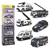 DREAMON Spielzeugautos Polizeiauto Polizeiwagen Fahrzeuge Spielzeug Set Mini Cars für Kinder ab 3 Jahren,6 Pcs