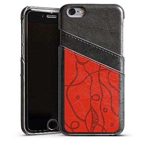 Apple iPhone 4 Housse Étui Silicone Coque Protection Fleurs roses Amour Rouge Étui en cuir gris