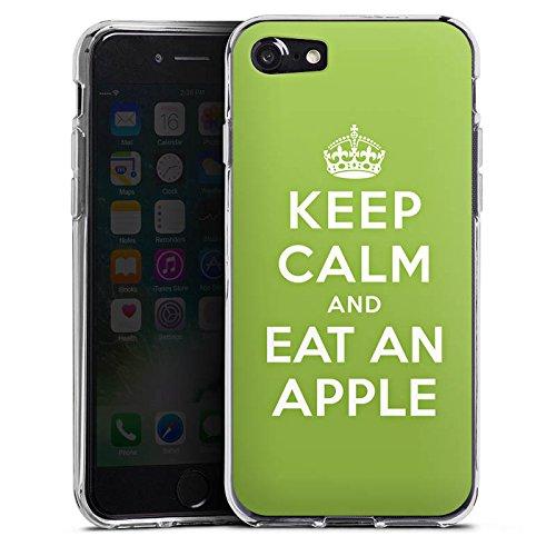 Apple iPhone X Silikon Hülle Case Schutzhülle Keep Calm Apfel Statements Silikon Case transparent