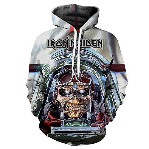 Kapuzenpullover,Iron Maiden Unisex 3D Cartoon Neuheit personalisierte Sweatshirt Pullover mit Kapuze Freizeit Hoodie @ Anime_M -