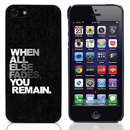 Graphic4You Stay Real Stay Loyal Englisch Zitat Nachricht Harte Hülle Case Tasche Schutzhülle für Apple iPhone 5 und 5S Design #12