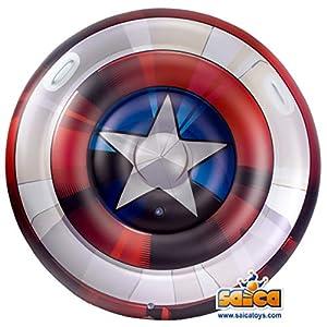 Saica- Capitán Escudo Capitá América Hinchable Gigante. para Playa y Piscina. Colchoneta. Licencia, (3469)