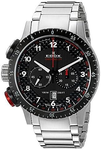 Edox Montre bracelet Mixte Edox Chrono Rally 1à quartz analogique en acier inoxydable 103053NRM NR