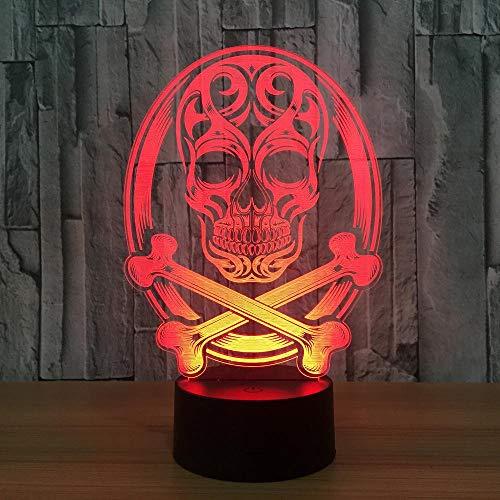 Für Kinder 骷髅 Led-Licht Umgebungs-Led-Licht Berührungssensor Halloween-Thema Party Leben Schlafzimmer Tisch Schreibtisch Dekoration Boot ()