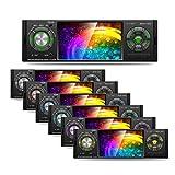 Wekold MP5 Autoradio Bluetooth-Autoradio mit 4,1 Zoll Bildschirm, Beleuchtung mit 7 Farben, UKW-Radio, USB/Micro SD/AUX, Fernbedienung inklusive, USB-Aufladung