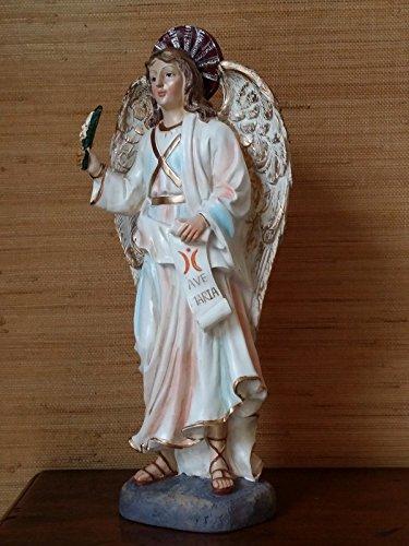 Heiligenfigur Erzengel Gabriel Deko Figur Religions Statue Engelsfigur Weihnachten