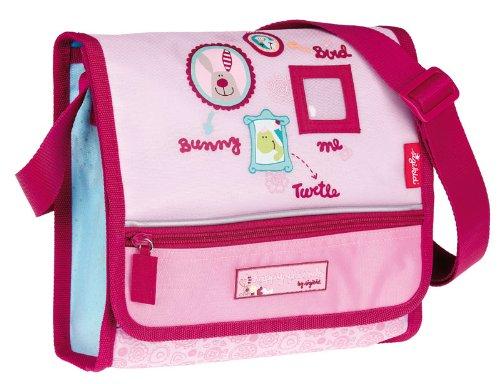 sigikid, Mädchen, Kindergartentasche mit buntem Druck, 3 happy friends, Rosa/Rot, 23910
