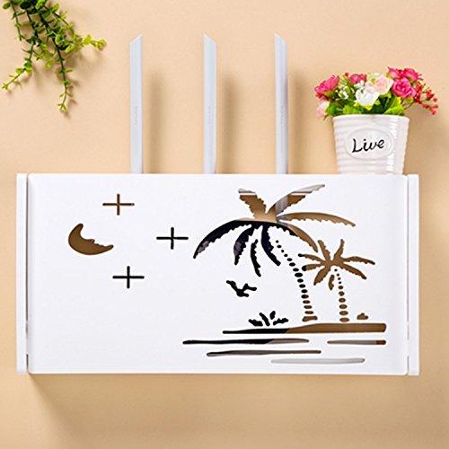 Appendere Contenitori decorativi stoccaggio scatole Set-Top Boxes appeso a parete rack Punch-Free Router wireless,parete rinnovate a nuovo router Beach-Style