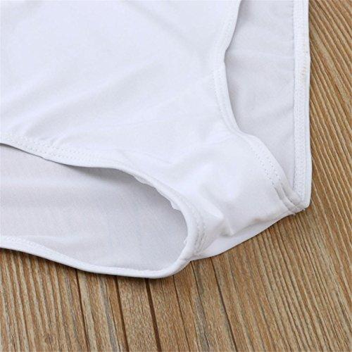 Donne Più Dimensioni Un Pezzo Monokini Swimwear Push-Up Imbottito Bikini Costume Da Bagno Monokini Costume Da Beachwear Set Swimwear Spiaggia Estate Pezzi Fascia Vita Alta Bianco