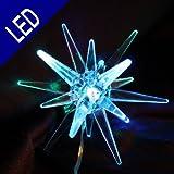 LED Weihnachtsstern, verschiedene Farben, batteriebetrieben, Weihnachts Deko Fenster Stern (LHS)