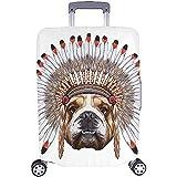 Bulldog hippie nel cofano da guerra Custodia per valigie valigie da viaggio