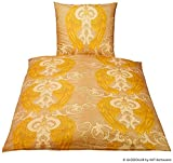 GLÖÖCKLER by KBT Bettwaren 4001626021215 Bettwäsche-Set Engel, 80 x 80 und 155 x 220 cm Baumwolle-Satin, gold