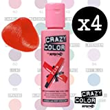 Crazy Colour Semi Permanent Hair Dye By Renbow Fire No.56 (100ml) Box of