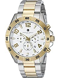 Charles-Hubert, Paris Men's 3977-T Premium Collection Analog Display Japanese Quartz Two Tone Watch