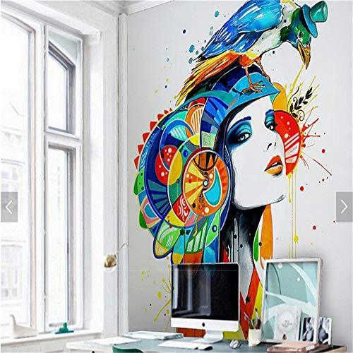 XZDXR Tapete Für Wohnzimmerstudio, Papageientapete Für Mädchen, Dekorative Wandbildertapete, 305X244Cm