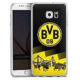 DeinDesign Samsung Galaxy S6 Edge Plus Slim Case transparent Silikon Hülle Schutzhülle BVB Logo Borussia Dortmund