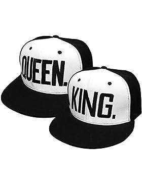 Gorras de Béisbol ajustable Sombreros para Parejas enamorados QUEEN And KING