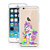 "licaso® iPhone 6 6S 4,7"" TPU Einhorn Hülle Sketch Unicorn Case transparent klare Schutzhülle Einhörner Märchen Crazy Disney iPhone Hülle iphone6 Tasche Cover (iPhone 6 6S 4,7"", Einhorn Crazy)"