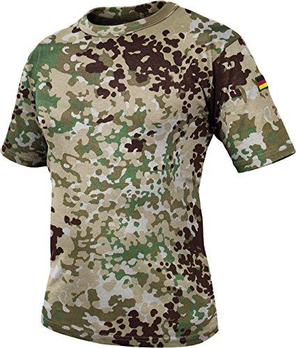 normani Tactical BDU Kampfshirt T-Shirt mit Klettpatches, Armtaschen & versteckten Seitentaschen Farbe Fleck-Arid Größe 5/S