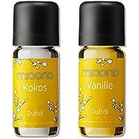 Duftöl von miaono - Wunderbare Welt der Düfte - Duftoel Set für Aroma Diffuser und Duftlampe (Kokos, Vanille,... preisvergleich bei billige-tabletten.eu
