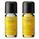 Duftöl von miaono - Wunderbare Welt der Düfte - Duftoel Set für Aroma Diffuser und Duftlampe (Kokos, Vanille, 2er Set 2x10ml)