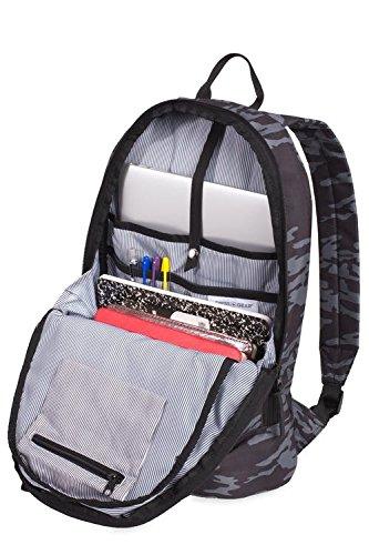 Best swiss gear bags in India 2020 Swiss Gear 20 Ltrs Grey Camo/Black Laptop Backpack (2728440417) Image 4