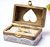 Happy Weddng Art Ringkissen Hochzeit Ring Box Ringbox Vintage Stil