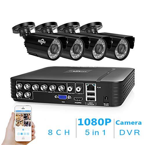 WANGOFUN 8ch 1080 p überwachungskamera System Home Outdoor CCTV Recorder 4 stücke wasserdichte überwachungskameras mit nachtsicht Easy Remote Access Motion alert Motion Alert Kit