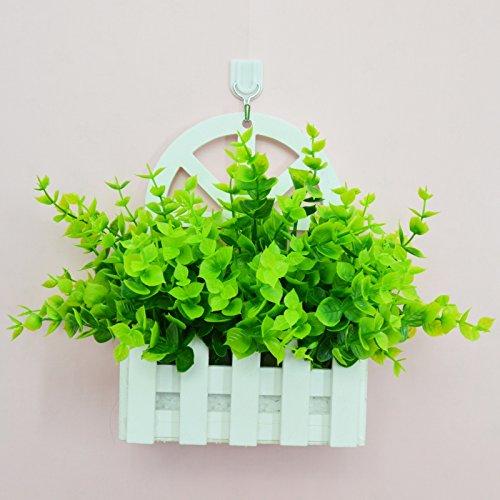 ALLDOLWEGE Personnalisé simple émulation menuiserie plastique en pot en pot pot de fleurs d'émulation de dans le mur lumière décoration de jardin exquis,Kit MFlange +Hook