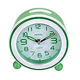 SOCICO Sveglie per Bambini, Sveglia Silenziosa Sveglia Analogica Sveglia Senza Ticchettio Sveglia Luminosa per Ragazzi Ragazze e Bambini (Verde)
