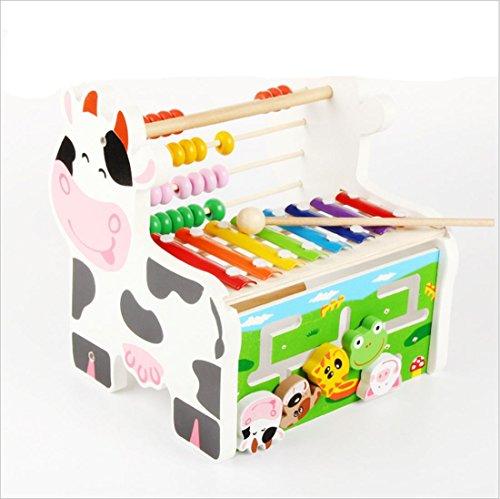 LDD - Multifunktionale Holzbohne Stück Handle Klavier Spieldose Kinder Puzzle Early Learning Spielzeug
