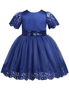TiaoBug Baby Mädchen Prinzessin Kleid Blumenmädchenkleid Taufkleid Festlich Kleid Hochzeit Geburtstag Partykleid...
